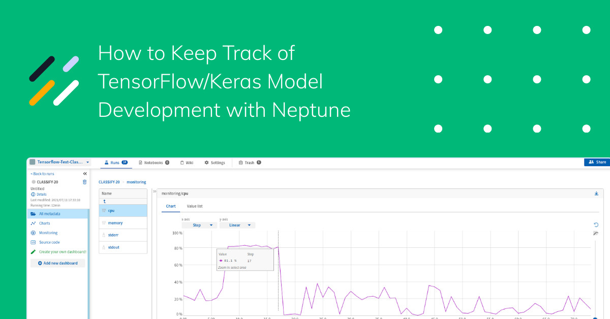 How to Keep Track of TensorFlow/Keras Model Development with Neptune